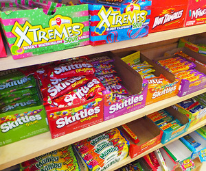 candy, food, and skittles image