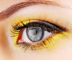 eye and yellow image