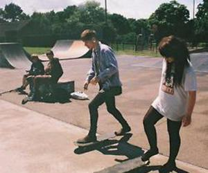 skate, girl, and boy image