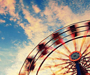 carnival, sky, and ferris wheel image