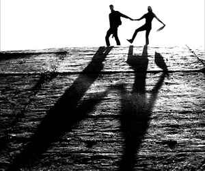 b & w, black and white, and couple image
