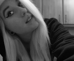 black and white, blonde, and bye image