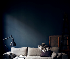 blue, interior, and linen image