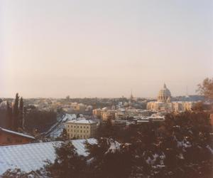 photography, rome, and snow image
