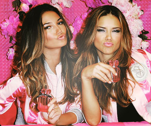 Victoria's Secret, Adriana Lima, and pink image