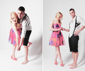 glee, dianna agron, and mark salling image