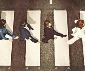 the beatles, walk, and abby road image