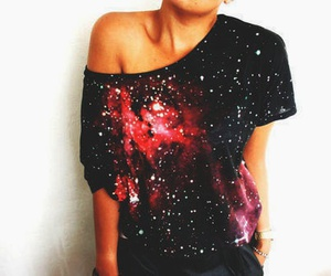 fashion, galaxy, and shirt image
