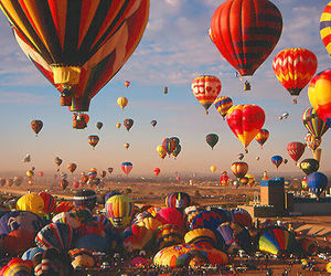 balloons, sky, and fly image