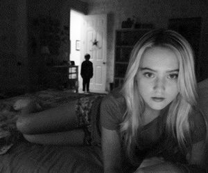 terror, paranormal activity, and black and white image