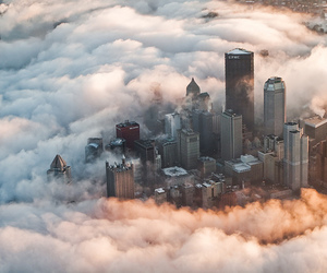 city, clouds, and photography image