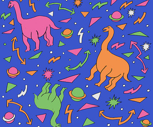 dinosaur, wallpaper, and kawaii image