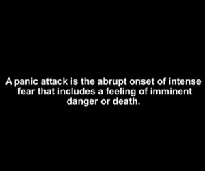 panic attack, anxiety, and death image