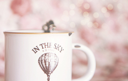 pink, cup, and pastel image