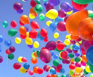 baloons, photogaphy, and sky image