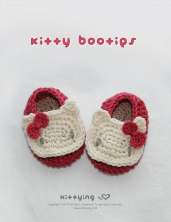 Hello Kitty Baby Booties Crochet Pattern Symbol Diagram Pdf On Luulla