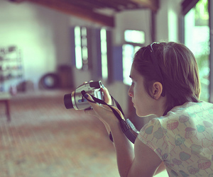 camera, girl, and vintage image