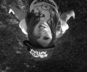 black and white, girl, and not avril image