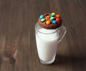 milk, cookie, and food image