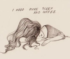sleep, coffee, and drawing image