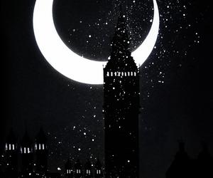 moon, amazing, and art image