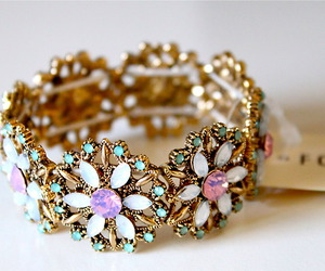 bracelet, flowers, and accessories image