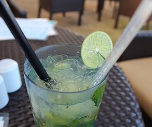 drink, mojito, and photography image