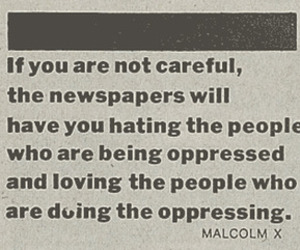 newspaper, malcolm x, and oppressed image