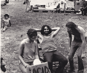 acid, festival, and black and white image