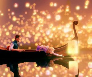 tangled, disney, and light image