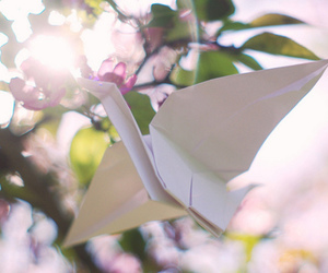 beautiful, crane, and origami image