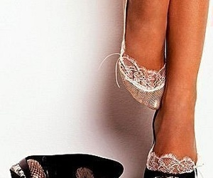 black, pretty, and shoes image