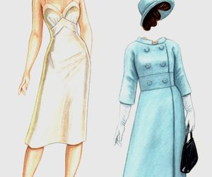 doll, vintage, and fashion image