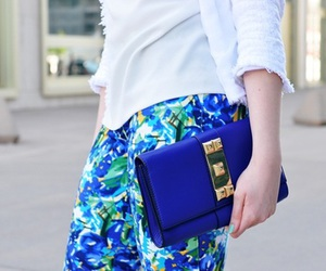 bag, street style, and blue image