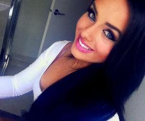 girl, beautiful, and black hair image