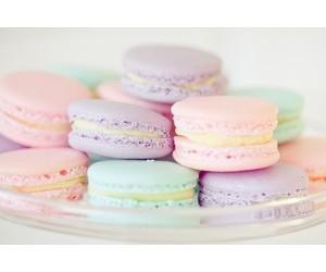 macaroons, food, and pastel image