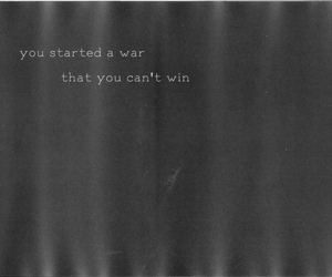 war, text, and black and white image