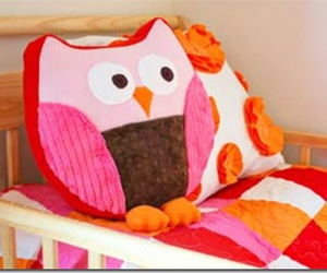 kids, pillows, and owls. owl sewing pattern image