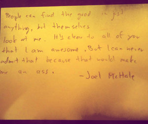 community, quote, and joel mchale image