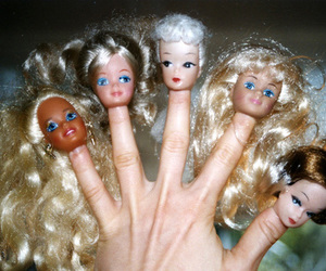 dolls, finger, and hair image