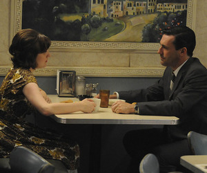 don draper, mad men, and peggy image