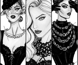 fashion, glamour, and drawing image