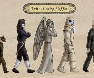 doctor who, weeping angel, and silence image