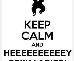 psy, gangnam style, and keep calm image