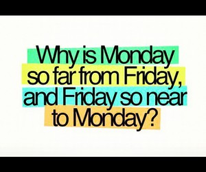 monday and friday image