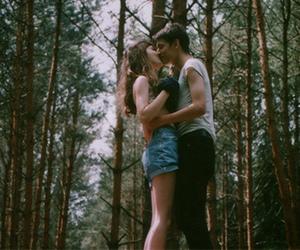 forest, vintage, and love image