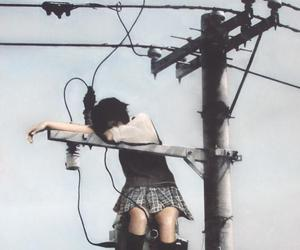 girl and electrocution image