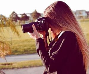 girl, camera, and photo image