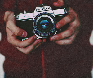 camera, hand, and pentax image