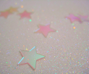 stars, glitter, and pink image